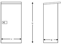 Heavy Duty Outdoor Series Fire Extinguisher Cabinet - Schematic