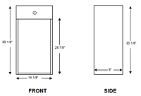 C-104 Classic Series Fire Extinguisher Cabinet - Schematic