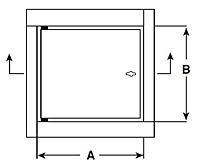 WB-FR Standard Fire-Rated Access Door - Schematic