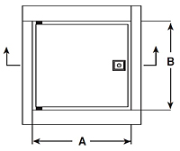 WB-FR Standard Ultra Fire-Rated Access Door - Schematic