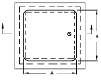 WB-GP Premium General Purpose Access Door - Schematic
