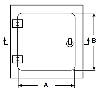 WB-High Security Access Door - Schematic