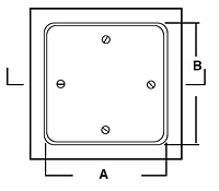 WB-RP Removable Panel Access Door - Schematic
