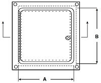 WB-SMP Surface Mounted Access Door - Schematic