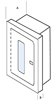 5, 10, 20 lb Elite Fire Extinguisher Cabinet - Schematic