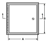 WB-AT Metal Access Door for Accoustical Tile - Schematic