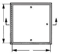 WB-ATR Fire Resistive Ceiling Access Door - Schematic