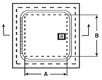 WB-FR Premium Ultra Fire-Rated Access Door - Schematic