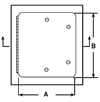 WB-Medium Security Access Door - Schematic